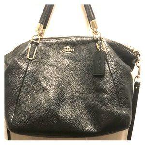 Pebbled Leather Coach Crossbody Bag